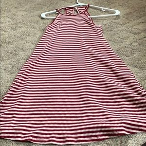 Stripped red and white dress